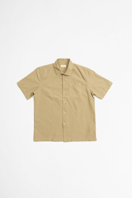 Universal Works Open Collar Shirt - Oxford Sand