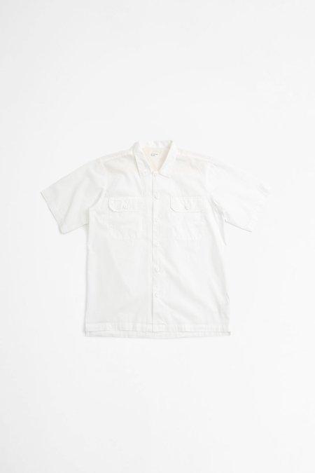 Universal Works Utility Ss Shirt - Poplin Ecru