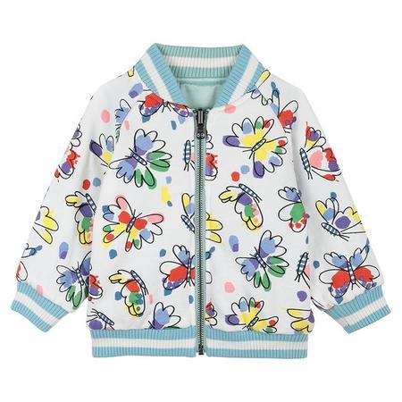 Kids Stella McCartney Bomber Jacket With Butterfly Patch - Blue