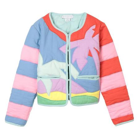 Kids Stella McCartney Gauze Jacket With Patchwork Palm Tree - Multicolour