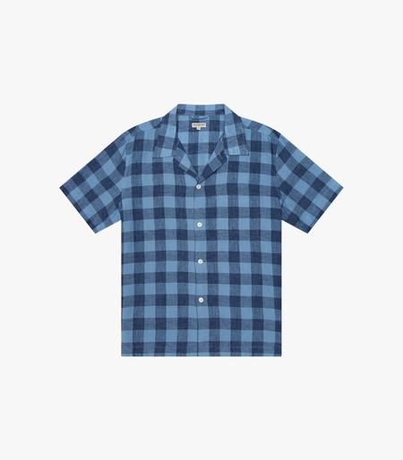 Knickerbocker SS Tall Pocket Camp Shirt - Malibu Plaid Indigo