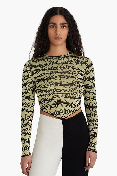 Paloma Wool Cole Top - Green/Black