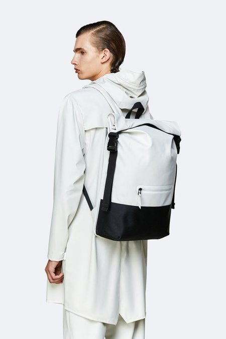 Unisex Rains Buckle Rolltop backpack