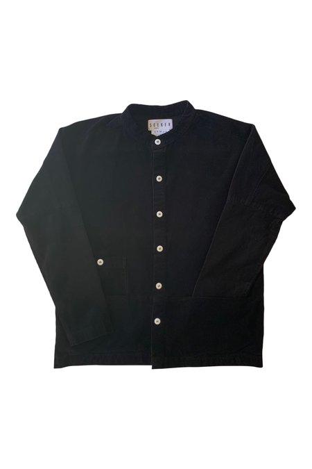 Unisex SEEKER Raj Canvas Coat - Black