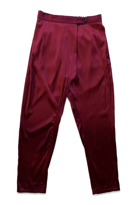 SEEKER Souk Silk Pant - Oxblood