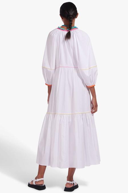 STAUD Demi Dress - White Multi