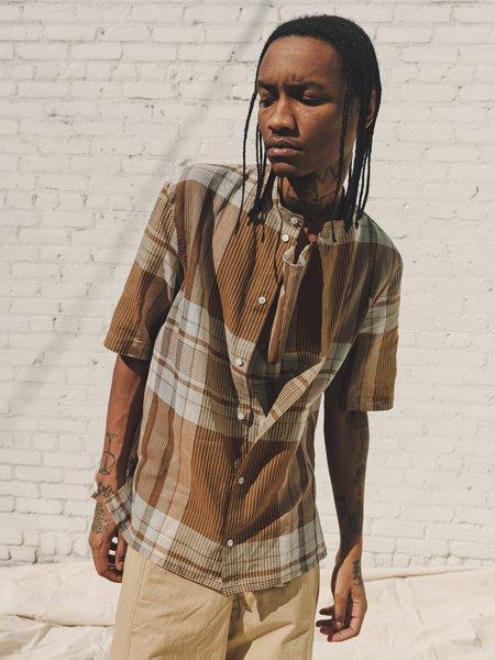 Lemaire Short Sleeve Blouse Top Shirt - Light madras