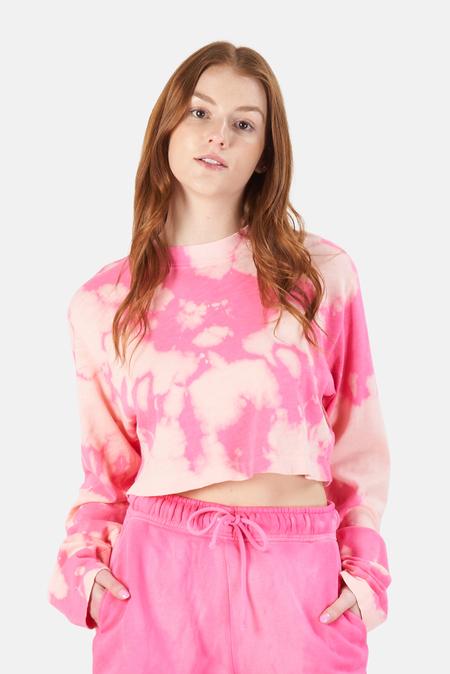 Cotton Citizen Tokyo Crop LS Top - hot Pink