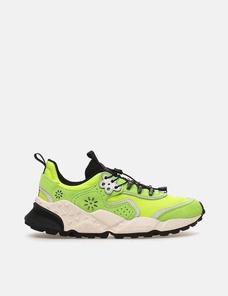 Flower Mountain Koetsu Cow Leather/Nylon sneakers - Yellow