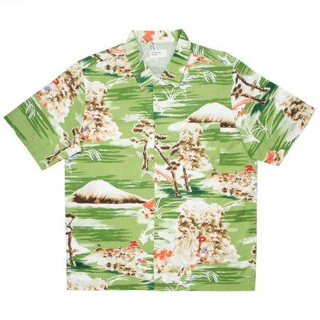 Universal Works Road Shirt - Fuji Summer Print/Green