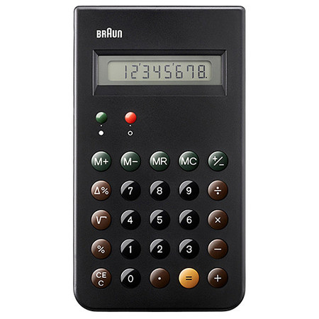 BRAUN CALCULATOR / BLACK