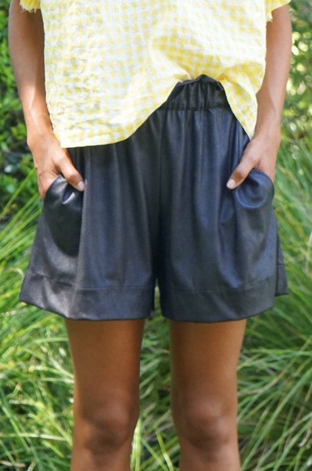 AqC Dolly Faux Leather Shorts