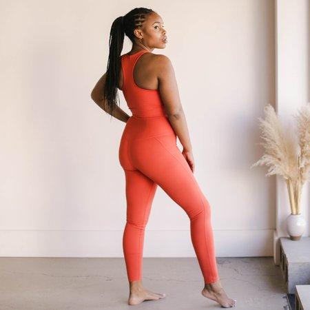 Girlfriend Collective High Rise Compressive Leggings - Tart