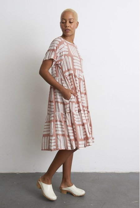 Osei Duro Layer Dress - Pink Basket