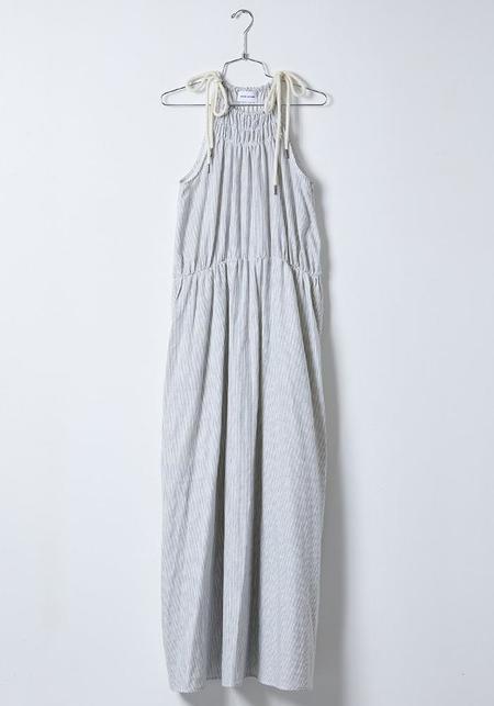 Atelier Delphine Cotton Gauze Sargent Dress - Stripe