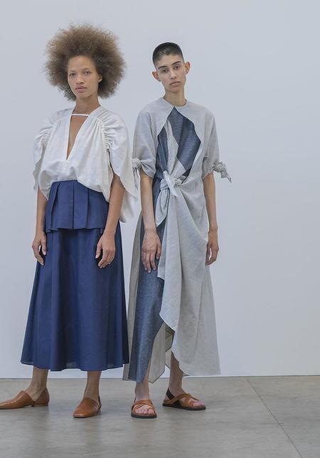 Atelier Delphine Topfer Dress - Stripe/Blue Jean
