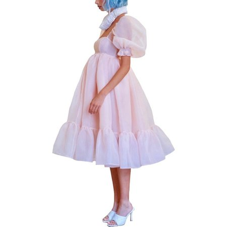Selkie The French Puff Dress - Peach Skin