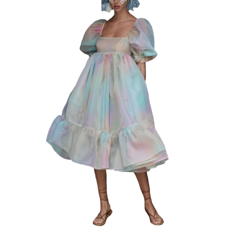 Selkie The French dress - Rainbow Puff