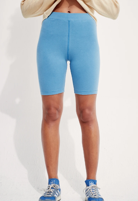 back beat rags Organic Cotton Biker Shorts - Marine