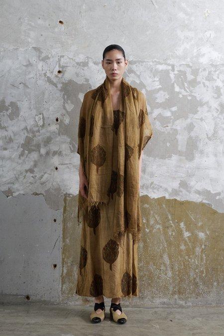 Uma Wang Cotton Scarf - Tan Print