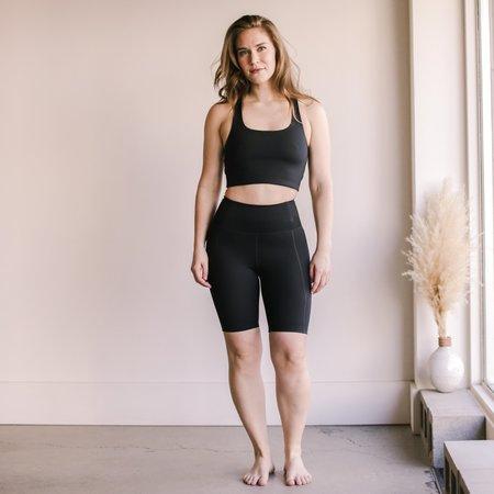 Girlfriend Collective High Rise Bike Short - Black
