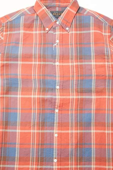 Beams Plus B.D. Check Cotton Shirt - Red