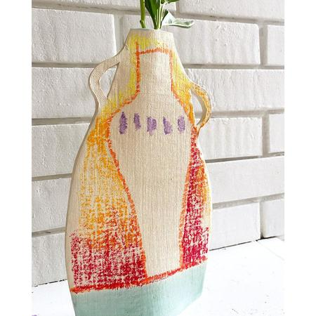 Alison Owen Celadon Dip Oil Pastel Vase