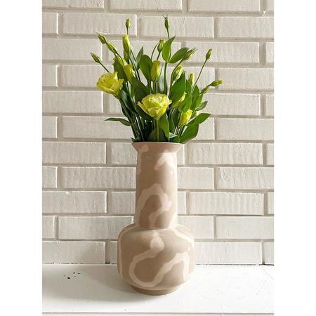 Middle Kingdom Memphis Latte Sage Vase
