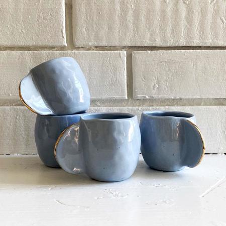 Cóte García Stone Set of 4 Espresso Cups - Blue