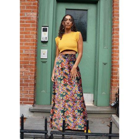 Vintage Klimt Inspired Velvet Maxi Skirt
