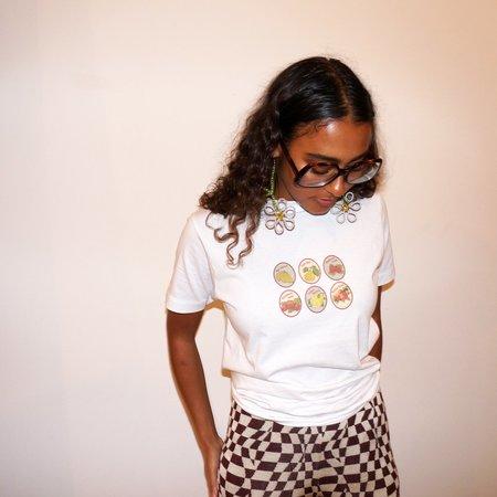 Pair of Peaches Fruit Sticker T-Shirt - White