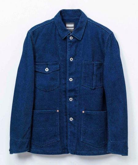 Momotaro Jeans Sashiko Jacket - Indigo