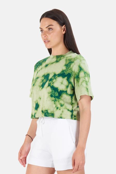 Cotton Citizen Tokyo Crop T-Shirt - Shamrock Blast