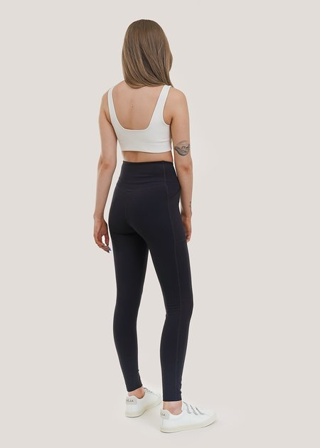 Girlfriend Collective High Rise Pocket Legging - black