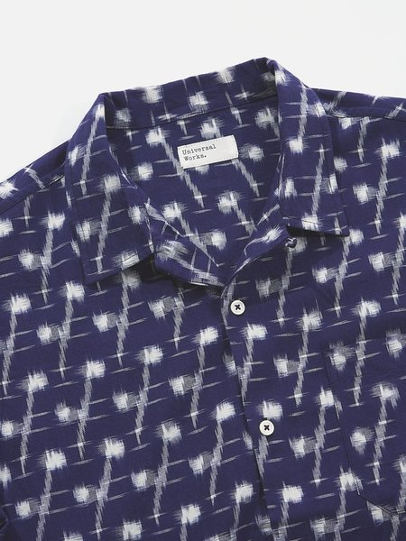 Universal Works Ikat Road Shirt - Indigo