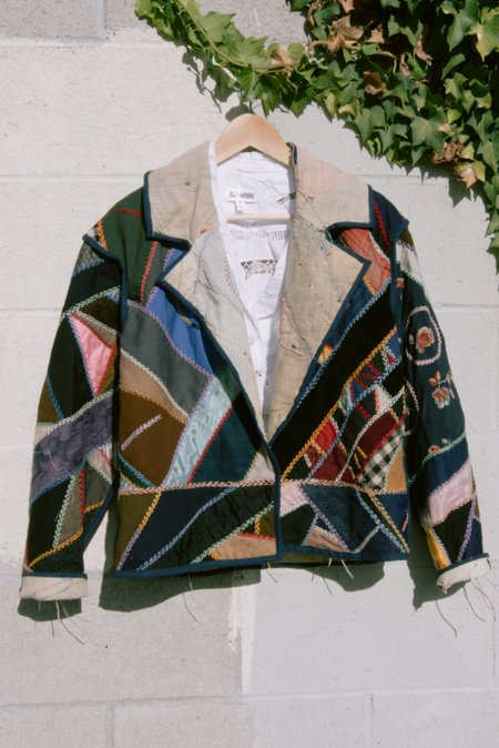 Vintage 1910's Embroidered Moto Cropped Coat - multi