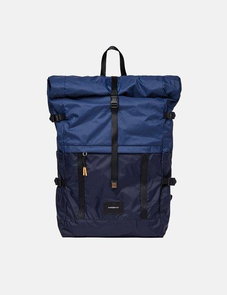 Sandqvist Bernt Lightweight Backpack - Navy Blue/Evening Blue