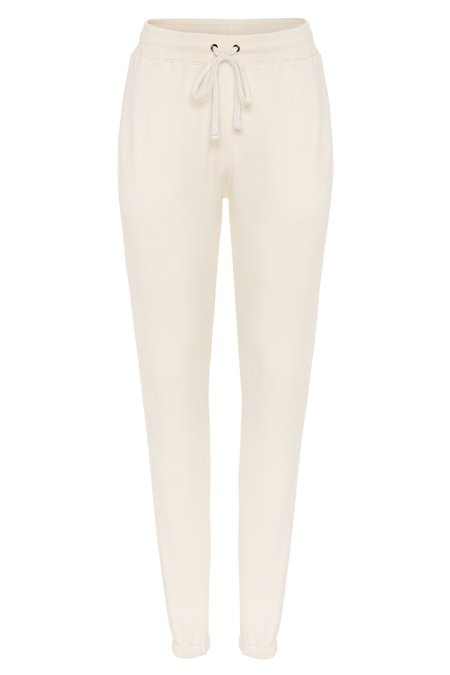 Parentezi High Rise French Terry Sweatpants - Off White
