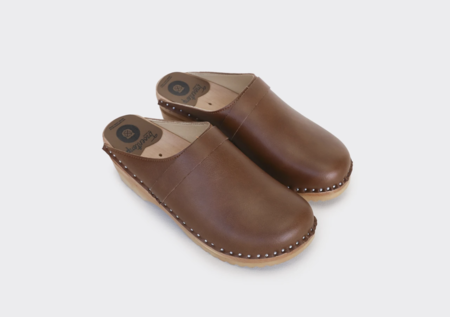 GOOD GUYS DON'T WEAR LEATHER Da Vinci Vegan Clogs - Brown