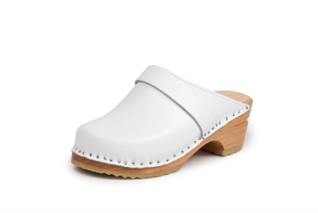 GOOD GUYS DON'T WEAR LEATHER Da Vinci White Vegan Clogs