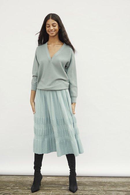 Molli Blown Pleated Skirt - Cloud Blue
