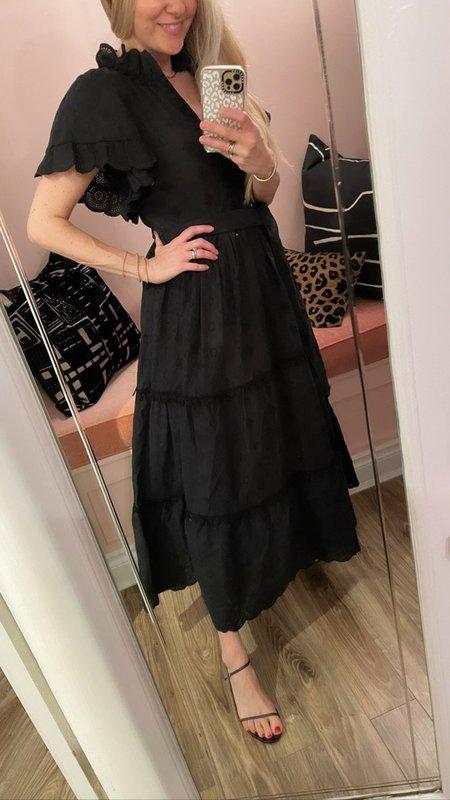 Lug Von Siga Sofia Belted Tiered Dress - Black