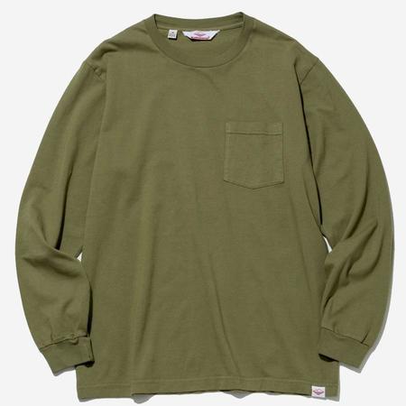 Battenwear Long-Sleeve Basic Pocket Tee - Olive