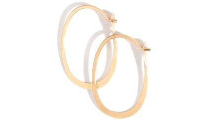 Melissa Joy Manning Oval Hoop - 14k Gold