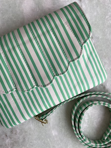 C.A.B. Collection Shell Fanny Pack bag - green/white