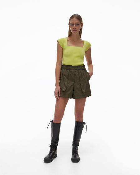 Helmut Lang Paper Bag Shorts - Burnt Olive