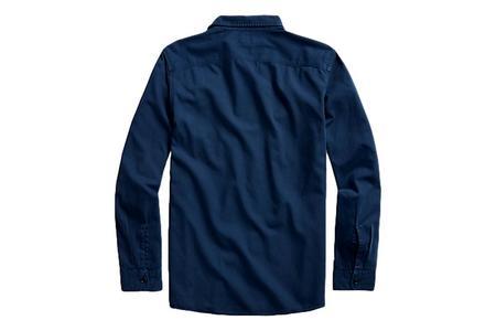 RRL Garment Dyed Twill Workshirt - Navy
