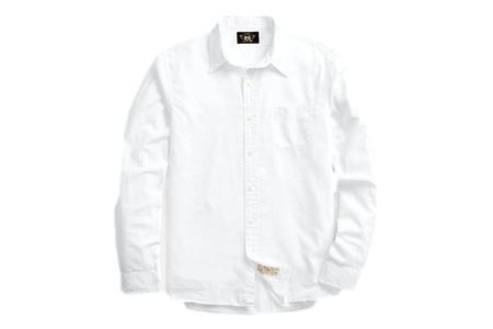 RRL Twill Workshirt - White