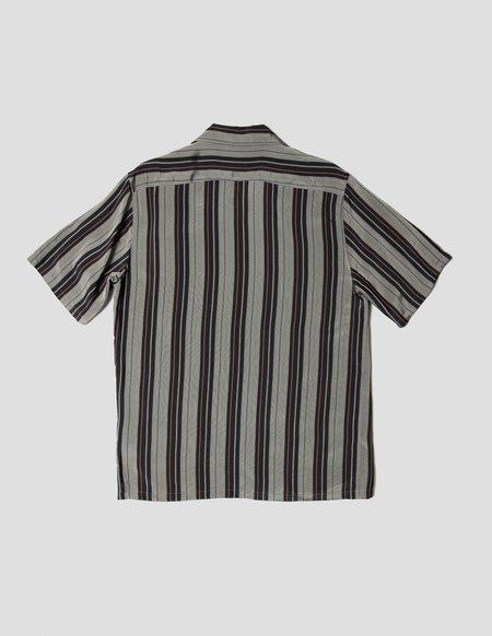 Kapatid NYC Striped Camp Shirt - Gray/Black