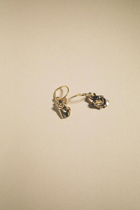 MARS Love Letter Sleepers earrings - Gold
